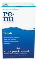 Re-nu Multi Purpose Contact Lens Solution duo pack 355ml + 120ml + lens case